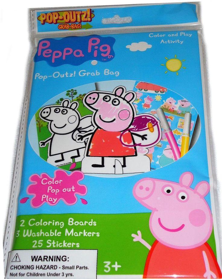 George Pig Personlised Cake Box Stickers