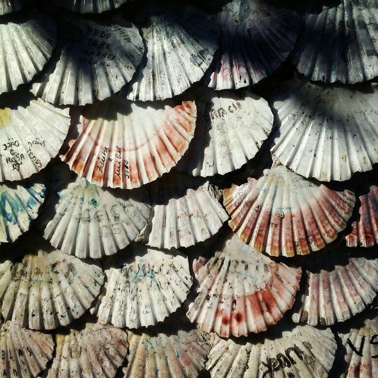 #scallops #shells in the facade of the San Sebastian chapel at #AToxa #pontevedra #galicia