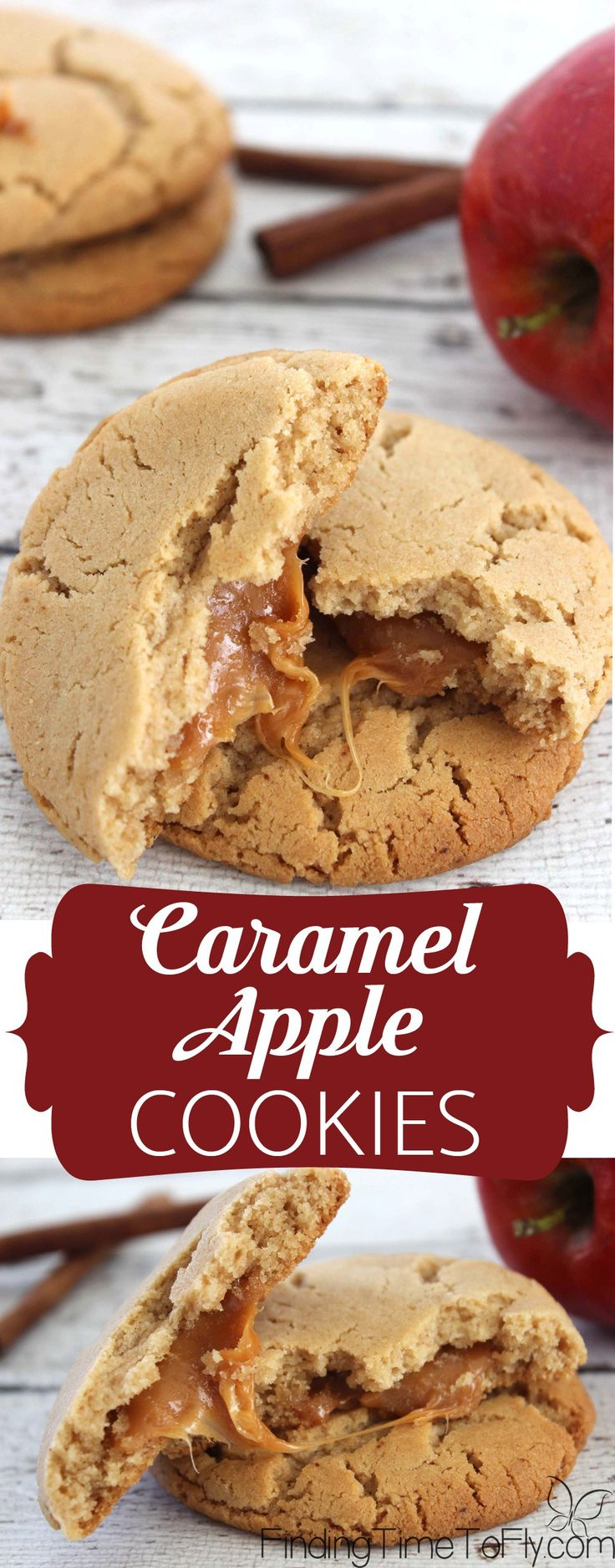 These Caramel Apple Cookies look so good! Perfect dessert for fall.
