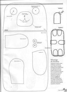 almofadas e naninhas com molde - Pesquisa Google