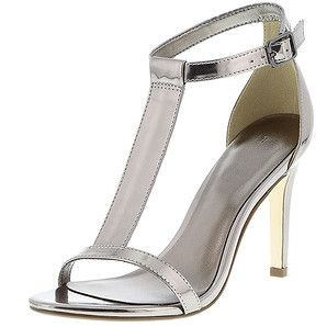 Alix T-Bar Sandals - Pewter – Target Australia