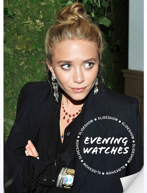 See how our favorite trendsetters style evening watches!