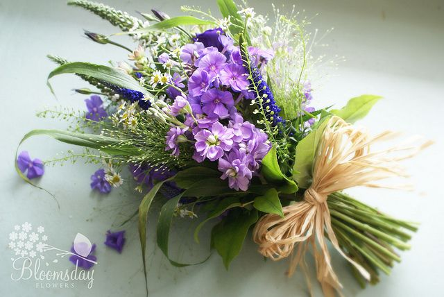 wildflower bridesmaids bouqet by bloomsdayflowers, via Flickr