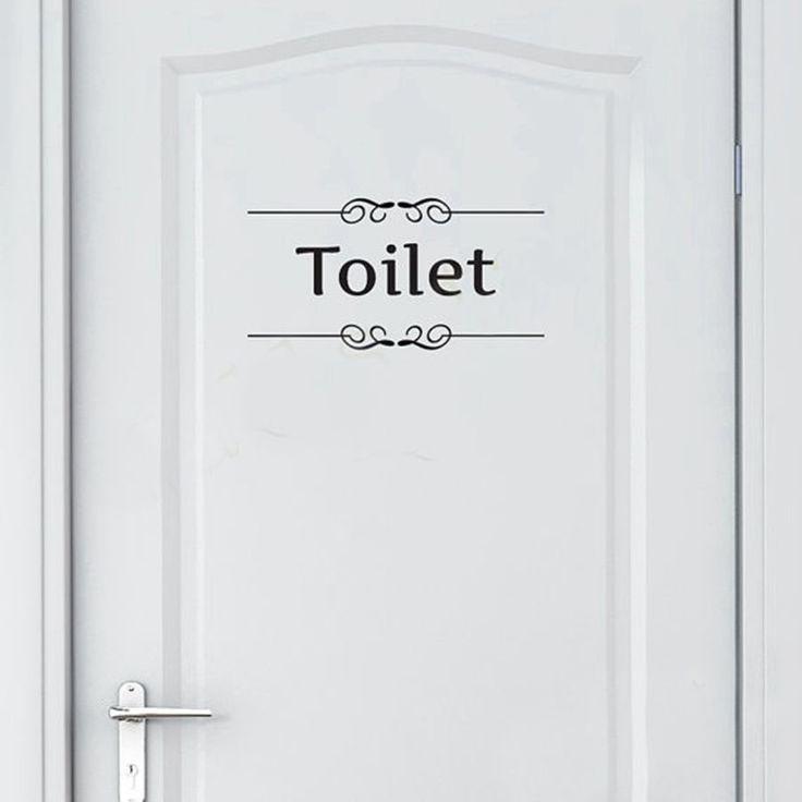 Бесплатная доставка Старинные Стены Декор Наклейки Ванной Туалет Двери Этикеты Винила Передачи Старинные Украшения Цитата Wall Art купить на AliExpress