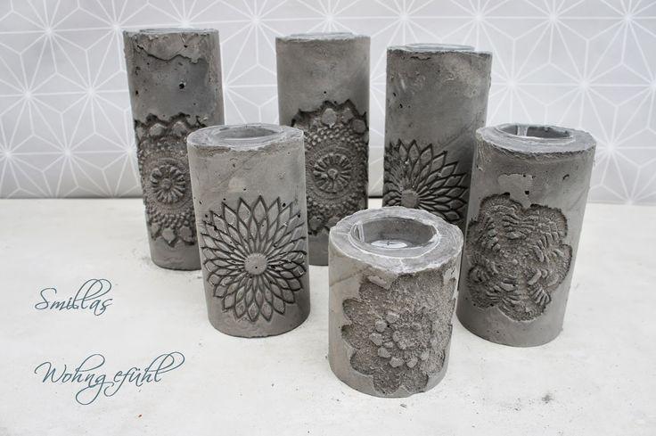 Smillas Wohngefühl: DIY: concrete candle holder / Kerzenständer aus Zement. Dienstag, 8. Juli 2014