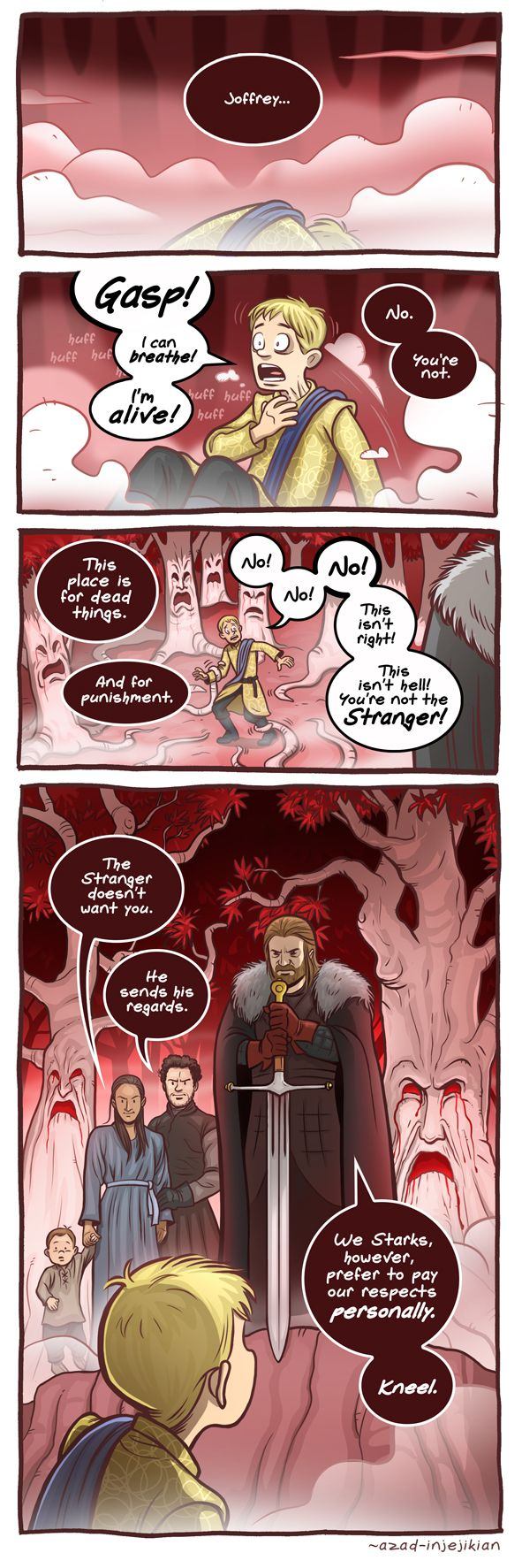 Joff with his head! - Game of Thrones by Azad-Injejikian.deviantart.com on @DeviantArt