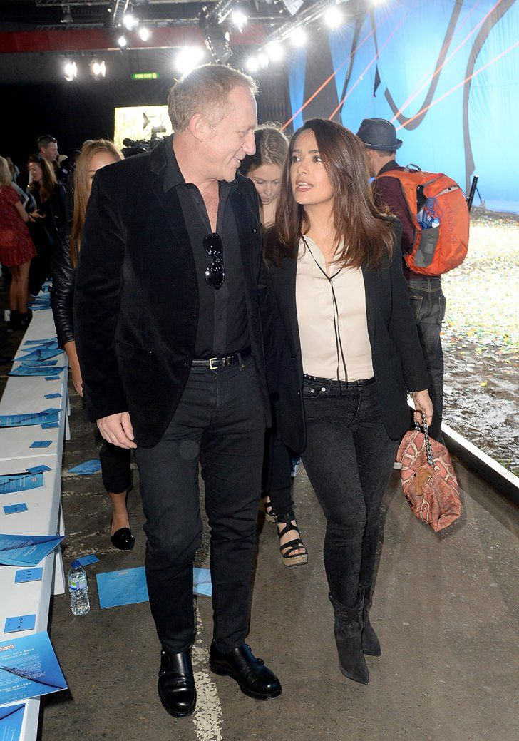 Pin for Later: Anna Wintour Totally Crashed Salma Hayek's Date With Her Husband