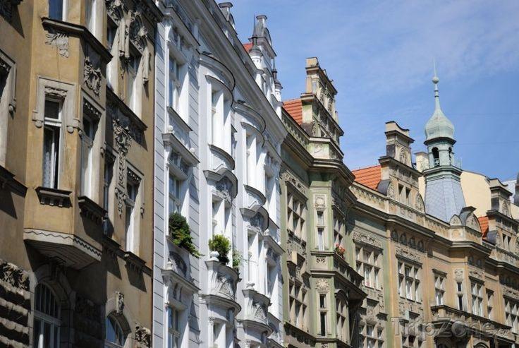 Fotka, Foto Architektura pražských domů (Praha, Česká republika)