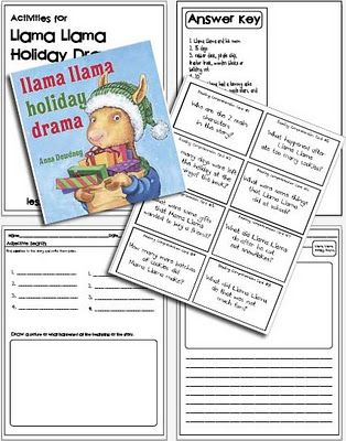 Llama Llama Holiday Drama - free lesson plansDramas Activities, Schools December, Drama Free, Reading Comprehension, Lessons Plans, Holiday Dramas, Llamas Holiday, Free Llamas Llamas, Dramas Free