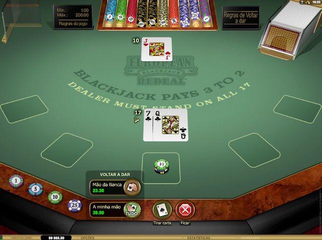 Jogar 21 online valendo dinheiro em Betmotion
