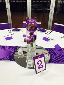 Lovely tables set ready for guest