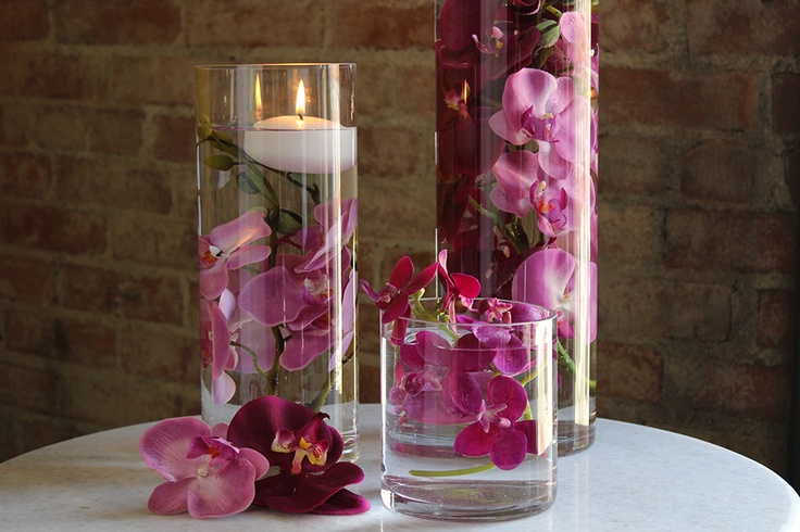 Submersible Flowers Submersible Wedding Centerpiece Wedding Lighting Wedding Silk Flowers