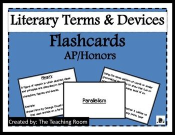 Glossary of literary terms with examples
