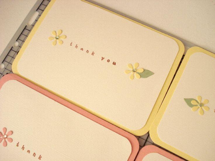 27.お花のシンプルThank youカード の画像|簡単手作りカード Chocolate Card Factory