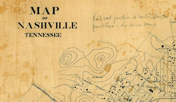 This is a Highly detailed Street map of Nashville Tennessee Circa 1860  Nashville was founded by James Robertson, John Donelson, and a party of Overmountain Men in 1779  In 1806, Nashville was incorporated as a city and became the county seat of Davidson County, Tennessee. In 1843, the city was named the permanent capital of the state of Tennessee.  THIS MAP HAS GREAT DETAIL SEE PHOTOS BELOW THIS WILL BE PRINTED ON SMOOTH HEAVY WEIGHT FINE ART PAPER  This map is similar to ones found at…