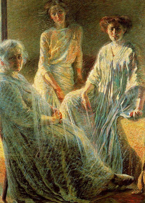 """hadrianestou: """" Umberto Boccioni - Three Women, 1910 """""""