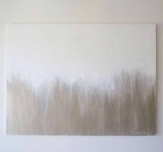 Abstract Painting White Gold