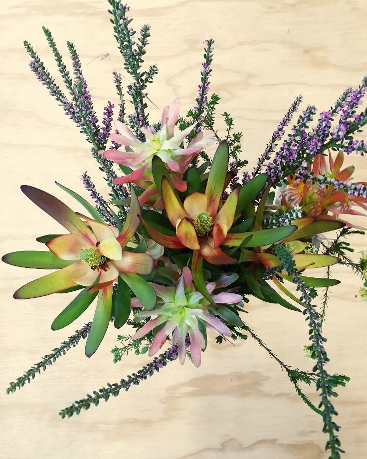 #Fynbos of all shades and #colours from the #beautiful #TableMountain gracing our #workshop