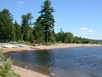 Kiosk Campground - this is my top choice Canoe rental in near by Brent.  Need to look at hiking options.