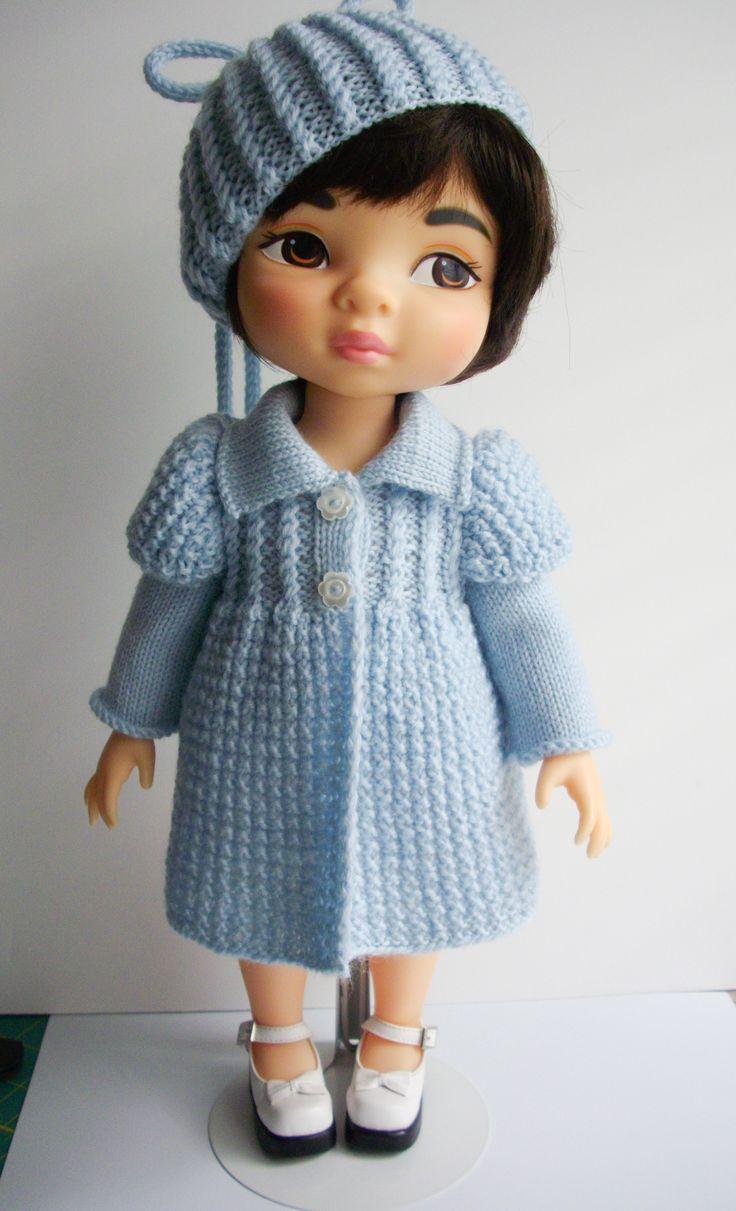 Baby Blue Coat knitting pattern for Animators