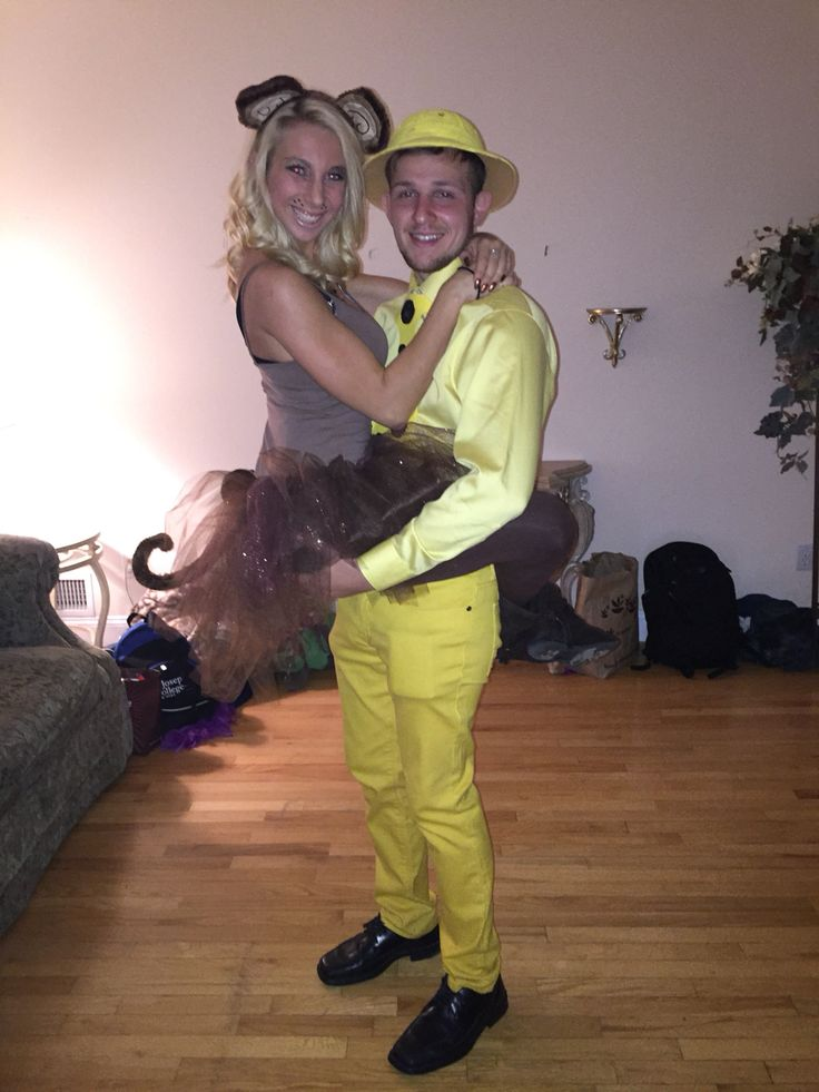 Curious George Couples Halloween costume! Both costumes were bought and created for $20 each!