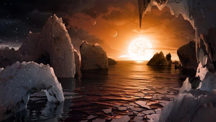 E' a 40 anni luce da noi. Il cuore è la stella nana rossa TRAPPIST-1, i pianeti hanno temperatura tra 0 e 100 gradi e quindi c'è la possibilità di acqua allo stato liquido, che li rende di grandissimo interesse per la ricerca di vita nell'Universo