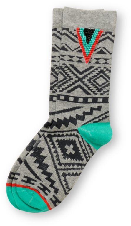 Stance Girls Kingston Grey & Turquoise Socks