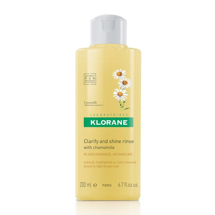 Shampoo med kamille fra Klorane. Fås på Apoteket til ca. kr. 200