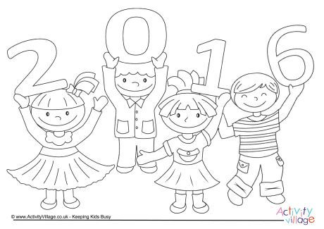 2016 kids colouring page
