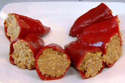 Pimientos rellenos de carne, receta casera