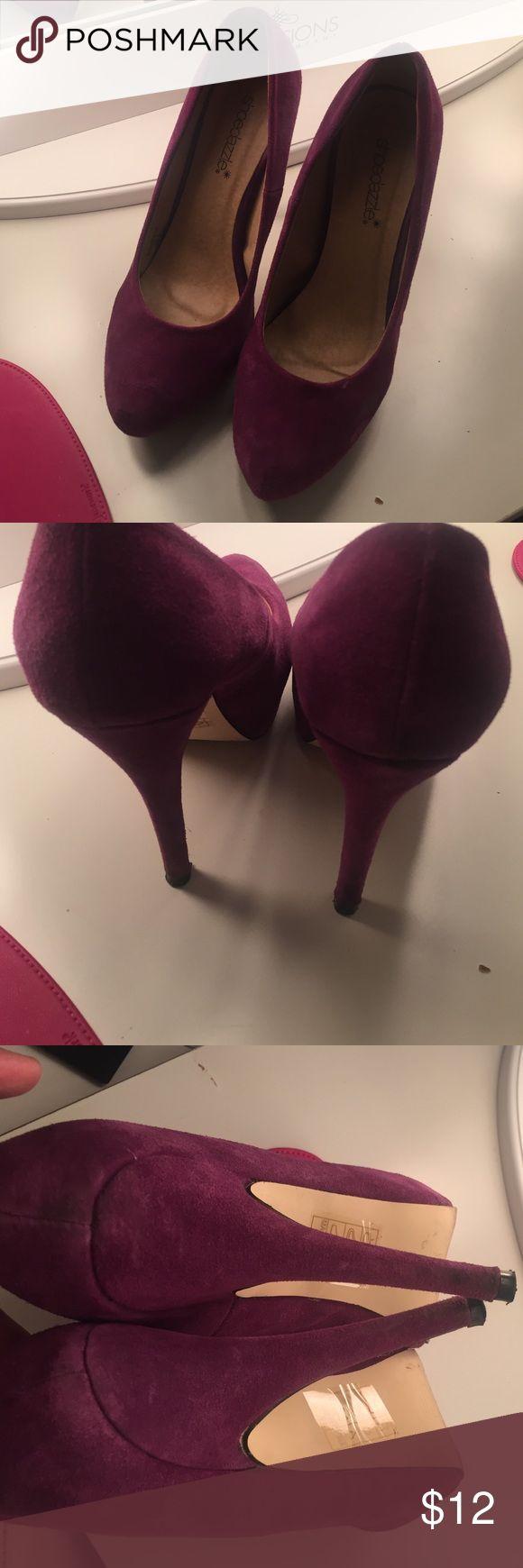 Purple Pumps by Shoe Dazzle, sz 8 Sexy Shoe Dazzle heels, size 8. All imperfections are pictured! Shoe Dazzle Shoes Heels