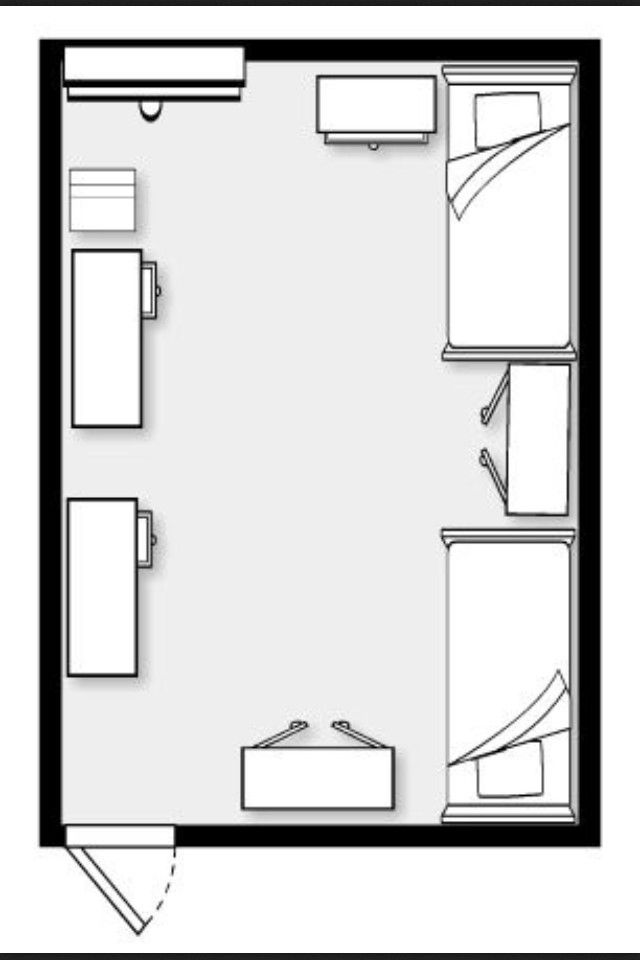 Dorm room layout ideas Dorm room setups