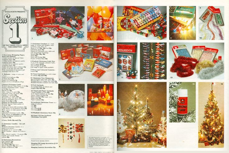 Woolworths Christmas Catalogue Spread From 1972 Vintage