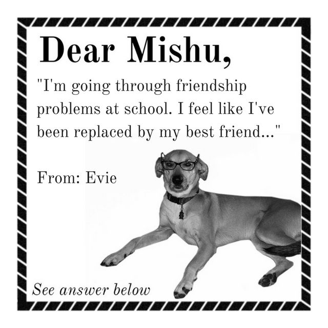 Dear Evie  I'm sorry you're feeling bad. I think you should get involved in something amazing that you've always wanted to do. Be bold! You'll feel excited and proud of yourself and gain confidence.... #DearMishu  #friendship . . . . . .   #tips #NowIsNow #trysomethingnew #be #everydayisagift #friendship #change #struggling #celebrate #speakingthetruth #myheart #seetheworld #ilovemydog #dogsonadventures #instagramdogs #puppylove  #doglovers #dogsofig #ibeliveicanfly #anxiety #stressedout…