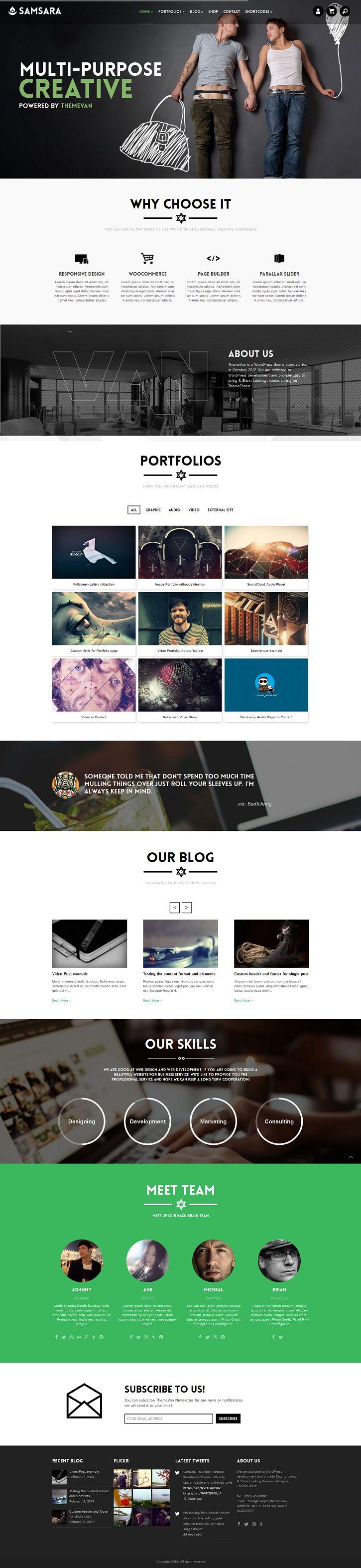 35+ BEST CreAtive Portfolio WordPress Themes of 2014 #wordpress #2014