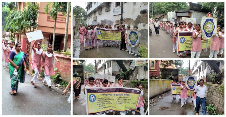 #ODF campaigning with school students in Banibon Gram Panchayat in Uluberia-II block, Howrah district #missionnirmalbangla