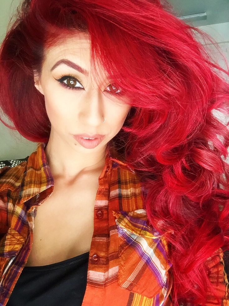 red hair. manic panic. vampire