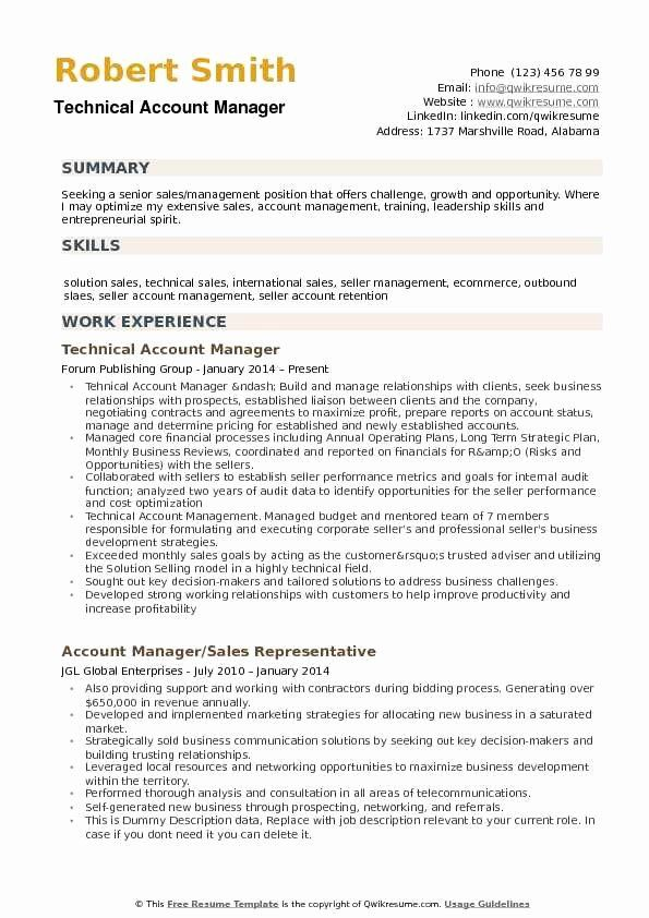 Account Manager Resume Examples Elegant Account Manager Resume Samples In 2020 Marketing Resume Manager Resume Resume Examples