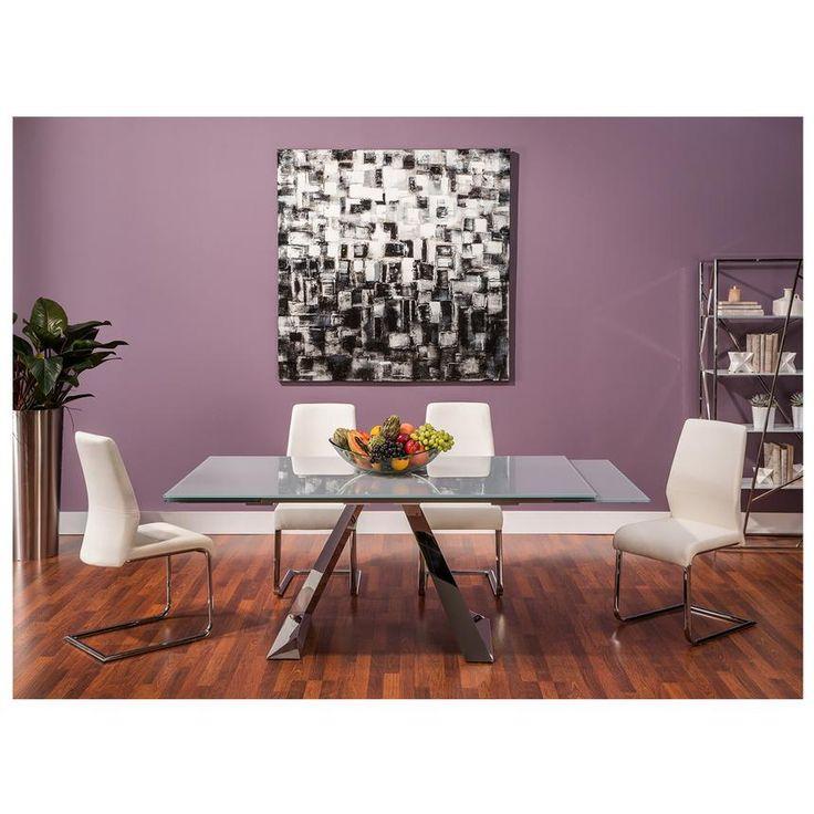 The Tessa Extendable Dining Table Set features a modern  : 907ccb4b30cebefd75a23a0f1cfcddb5 extendable dining table dining sets from www.pinterest.com size 736 x 736 jpeg 65kB
