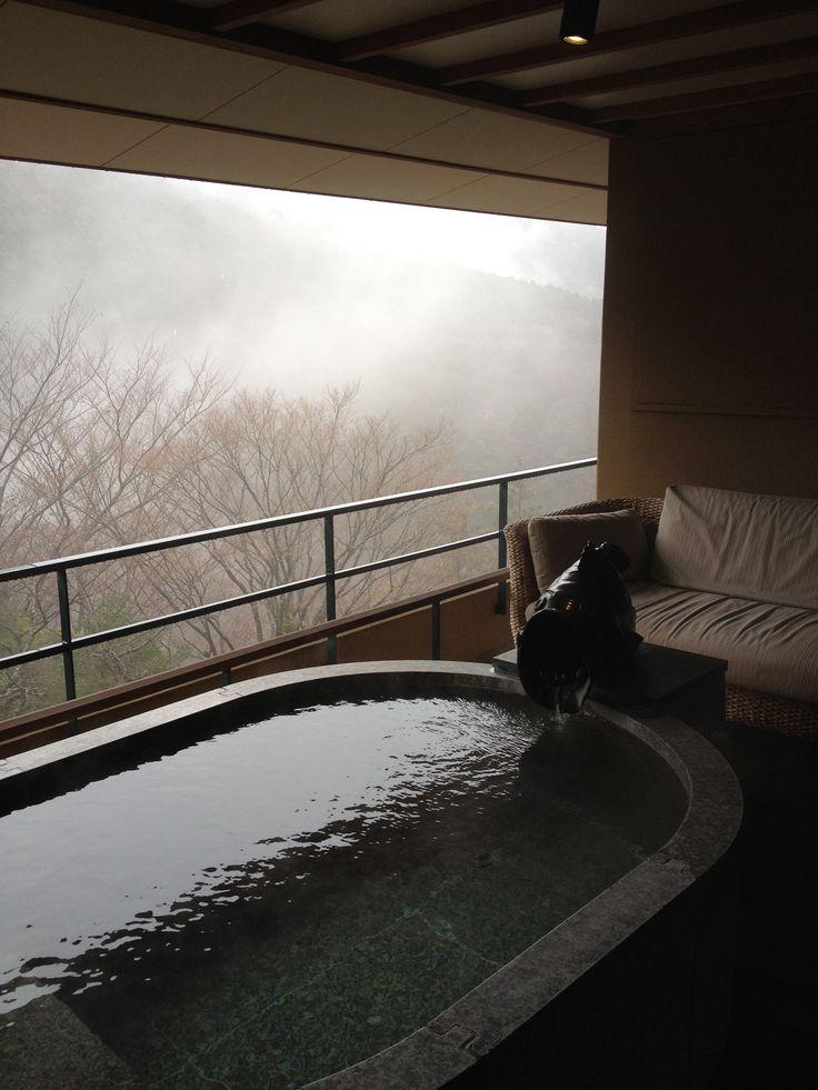 japanese ryokan bath tub in balcony 2