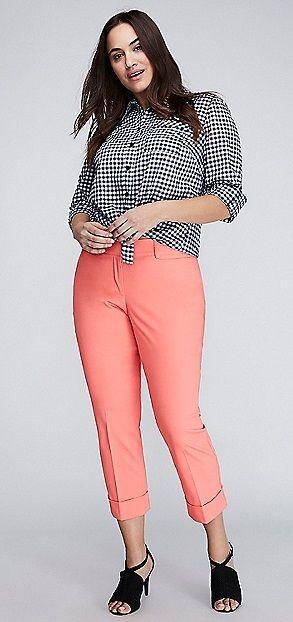 Plus Size Coral Pants