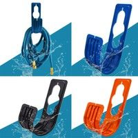 Wall Mounted Garden Hose Pipe Holder Hanger Features Color Blue/Black/Orange(The color of the hose p