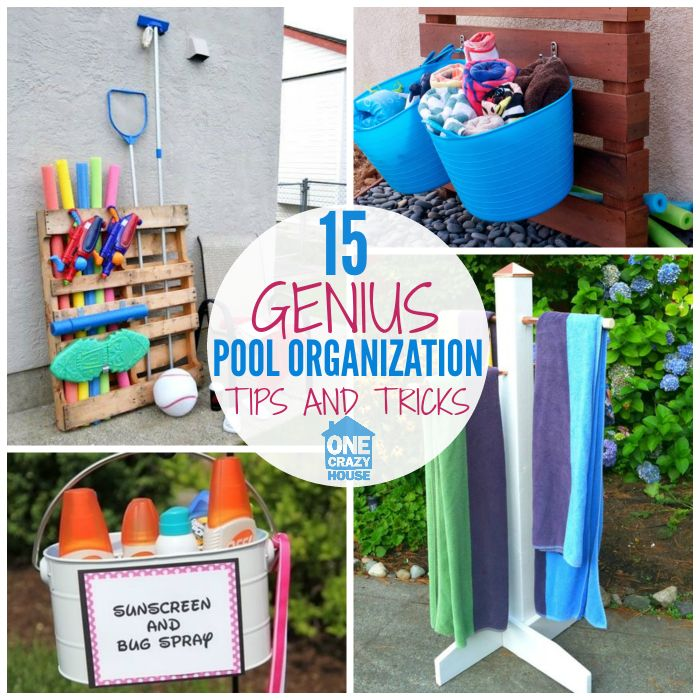 Uses these pool area organization hacks to maximize your summer fun and get the most out of your outdoor space.