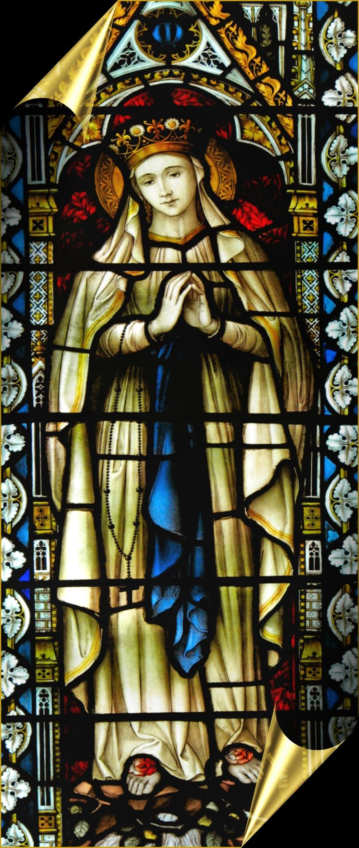 STAINED GLASS LOURDES