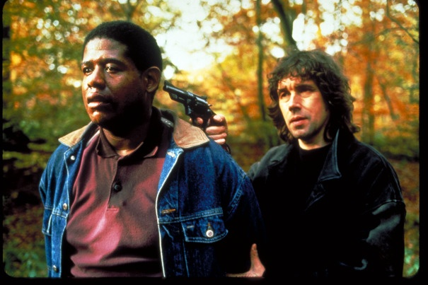 The Crying Game, 1992. Forest Whitaker and Stephen Rea.