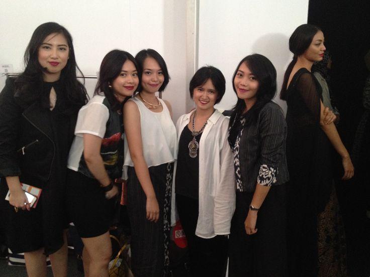 designer and muse - backstage at Jakarta Fashion Week 2015.