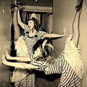 Jacques Rouchon- Can-Can dancers