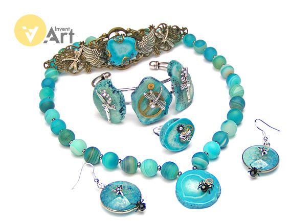Blue Agate set by Invent_Art