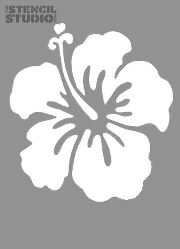 Download vector about hibiscus stencil item 3 , vector ...