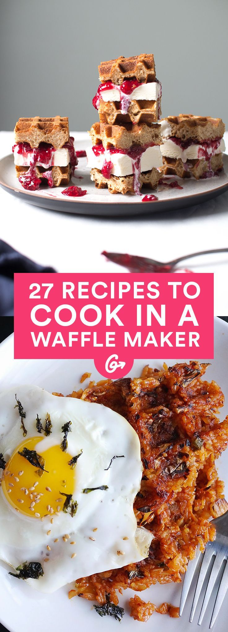 A waffle maker is no one-hit wonder. #healthy #waffles #recipes http://greatist.com/eat/waffle-maker-recipes